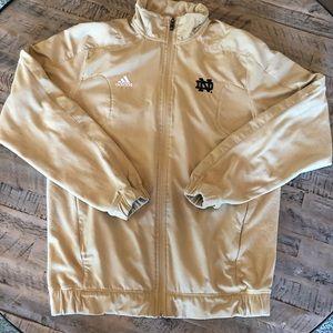 Adidas Notre Dame Scorch Zip Windbreaker Jacket M